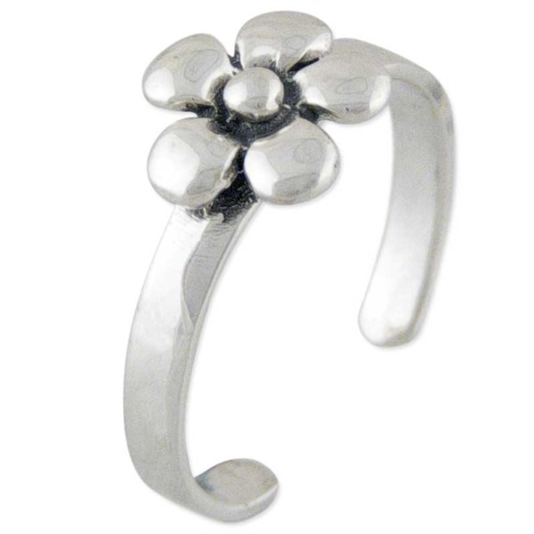 Women's Silver Poppy Toe Ring