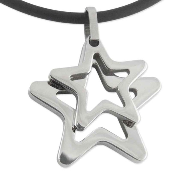 Women's Lunaire Steel Star Pendant