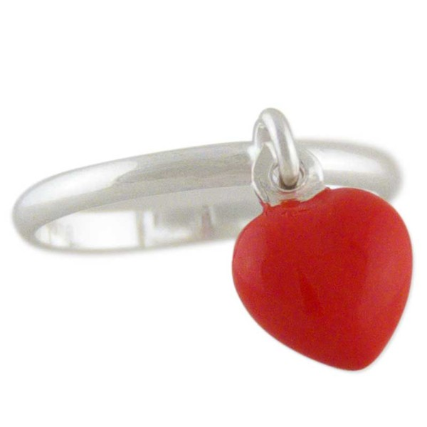 Women's Sweetie Heart Silver Toe Ring