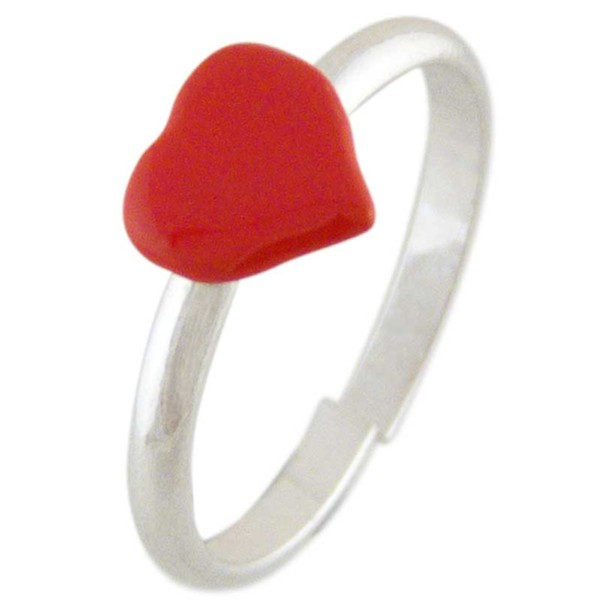 Women's Loveheart Silver Toe Ring