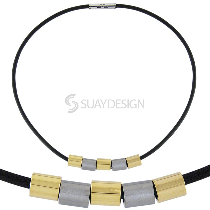 Combination Titanium Necklace 107