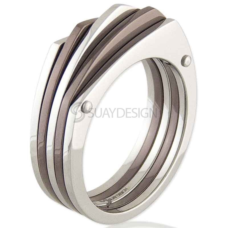 Women's La Sal Coffee Steel Ring