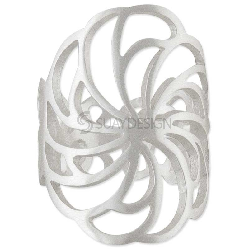 Women's Silver Twirl Ring