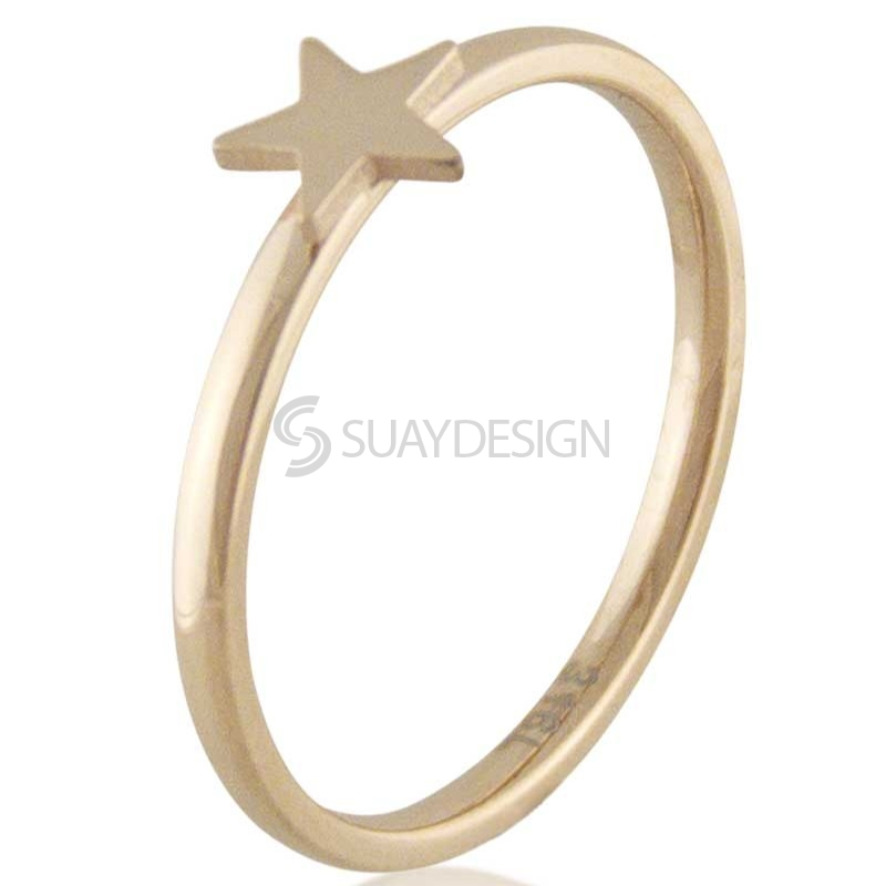 Women's Compliment Star Rose Ring