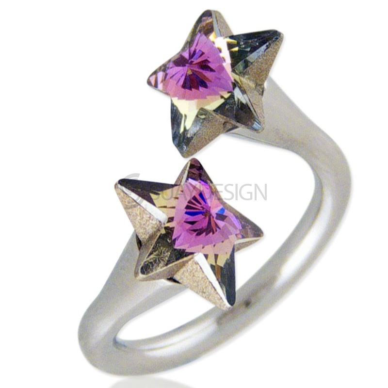Star Struck Rose Swarovski Ring