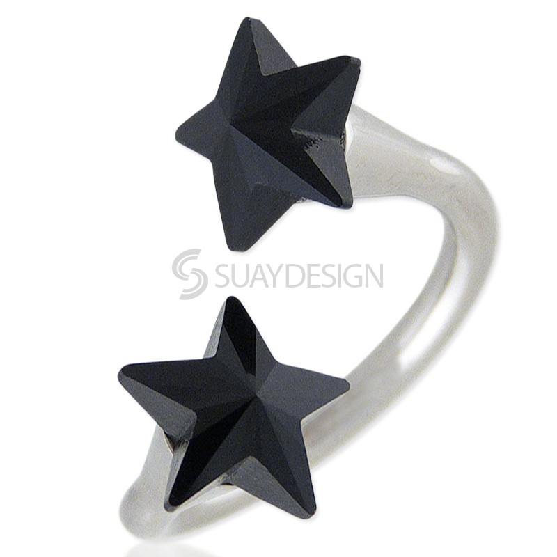 Women's Star Struck Jet Swarovski Ring