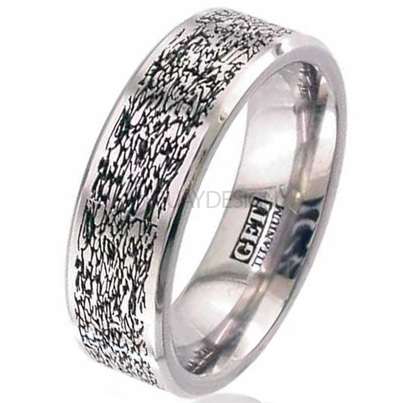 Women's Titanium Ring 2226CH-TEX1