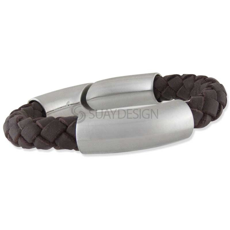 Format Brown Satin Leather Bracelet