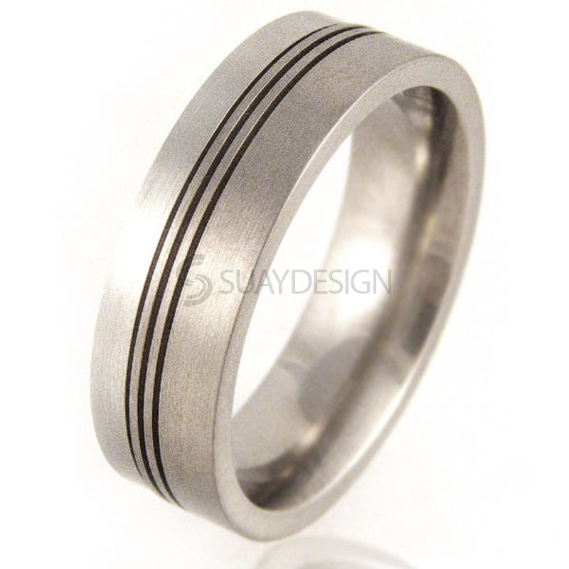 Women's Platinum & Titanium Ring