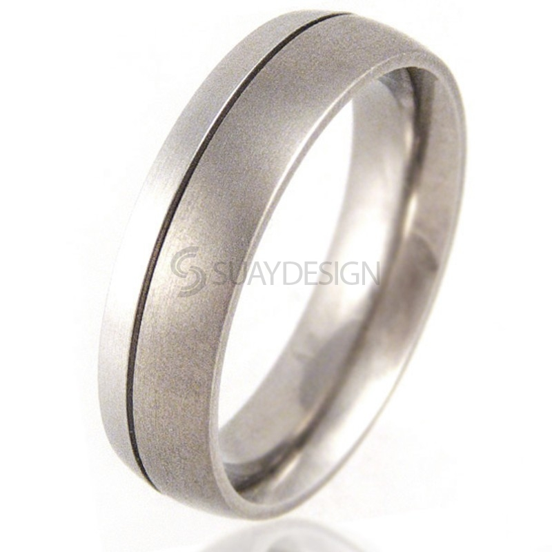 Women's Titanium and Platinum Ring