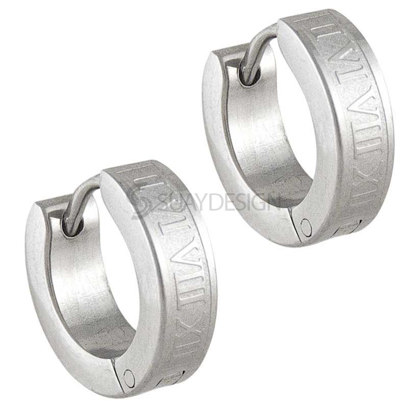 Women's Numero Steel Earrings