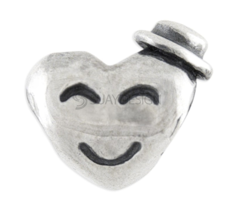 Women's Happy Face Silver Charm