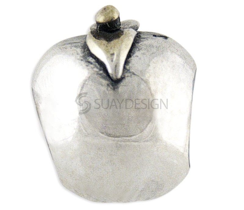 Women's Gold & Silver Apple Charm