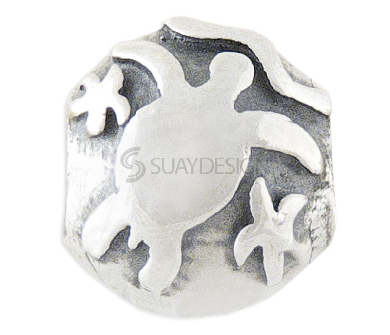 Women's Silver Charm Stopper Turtle