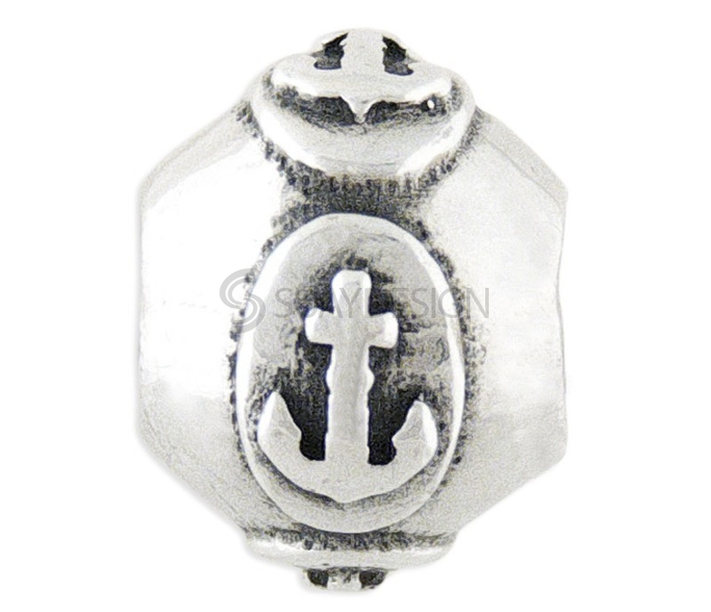 Women's Silver Charm Stopper Anchor