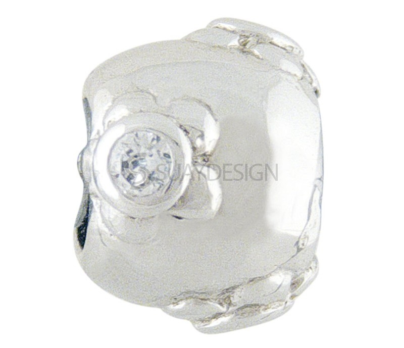 Women's Silver Charm with Cubic Zirconia