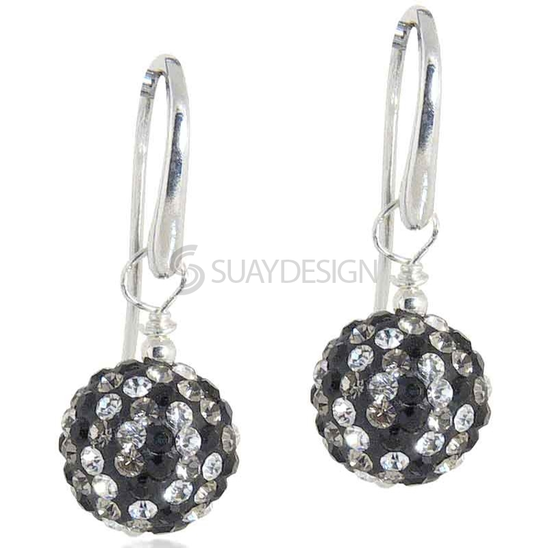 Women's Spangle Black Drop Earrings