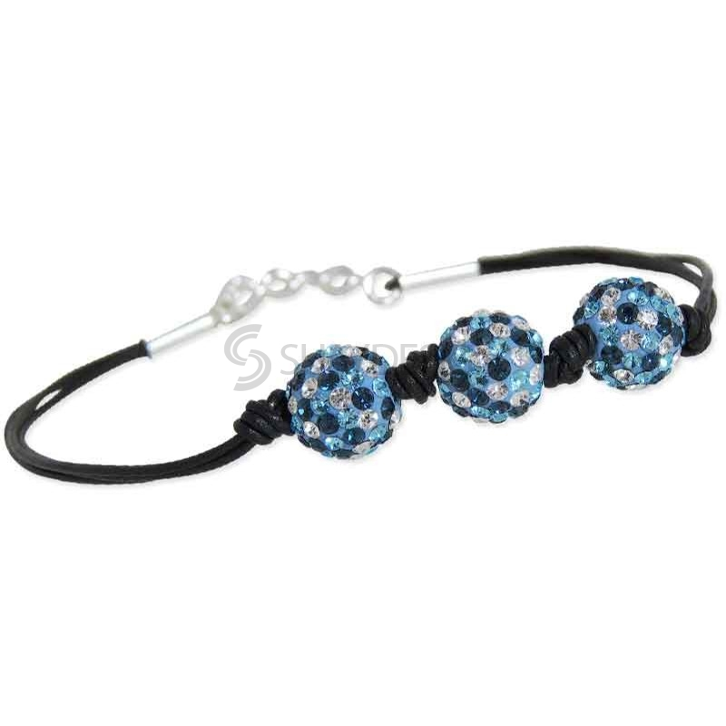 Women's Spangle Blue Crystal Bracelet