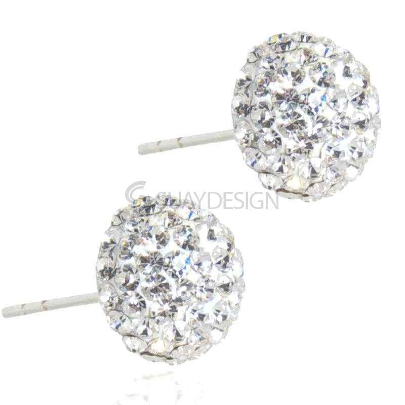 Women's Spangle Crystal Stud Earrings