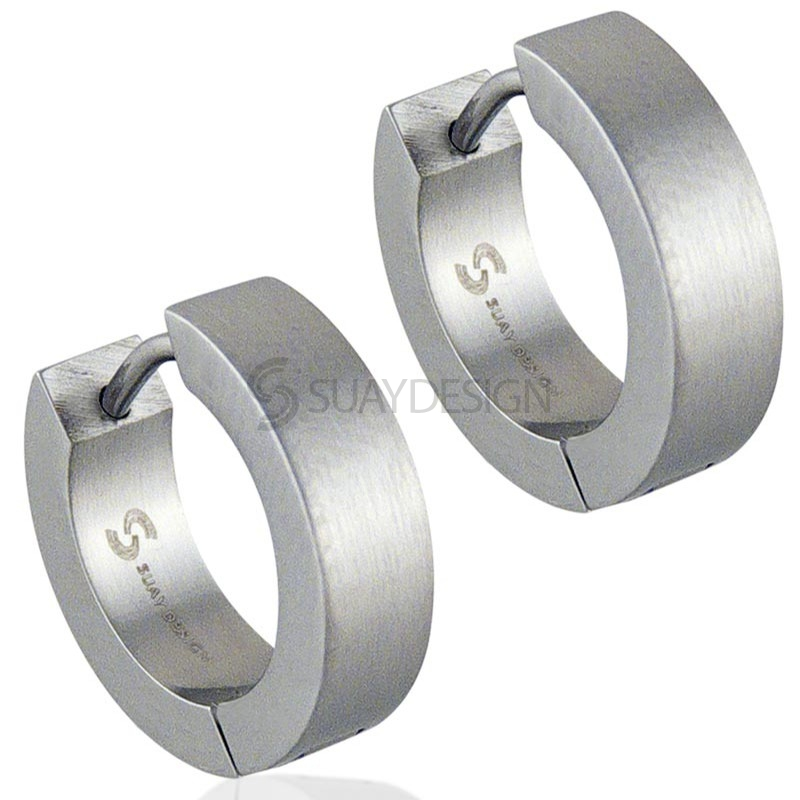 Women's Role 4mm Steel Earrings