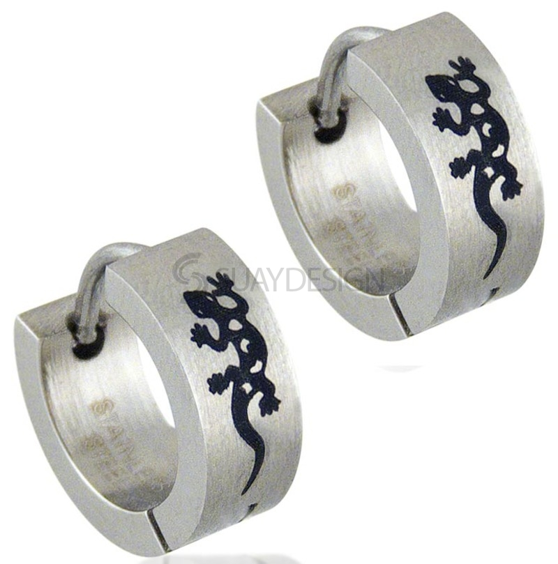 Women's Gecko 2 Steel Earrings