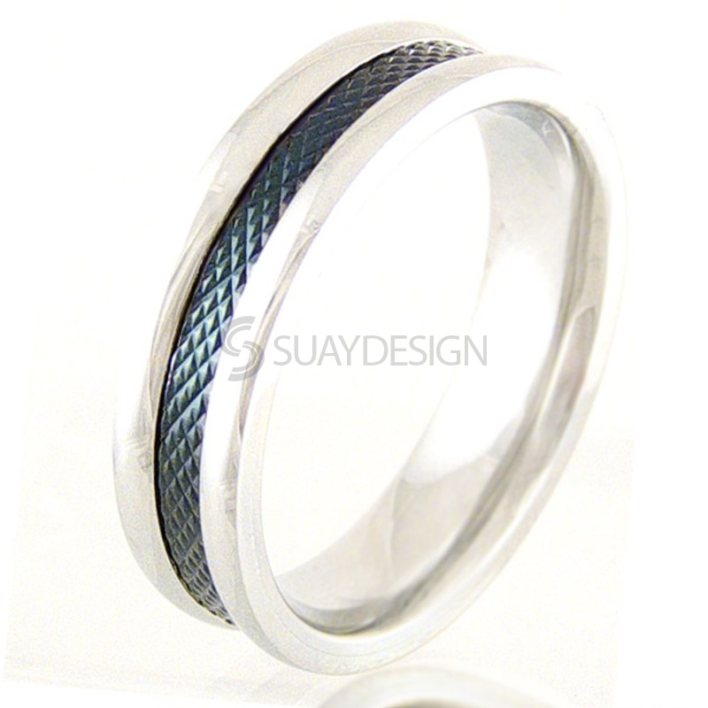 Women's Crossways Steel Ring