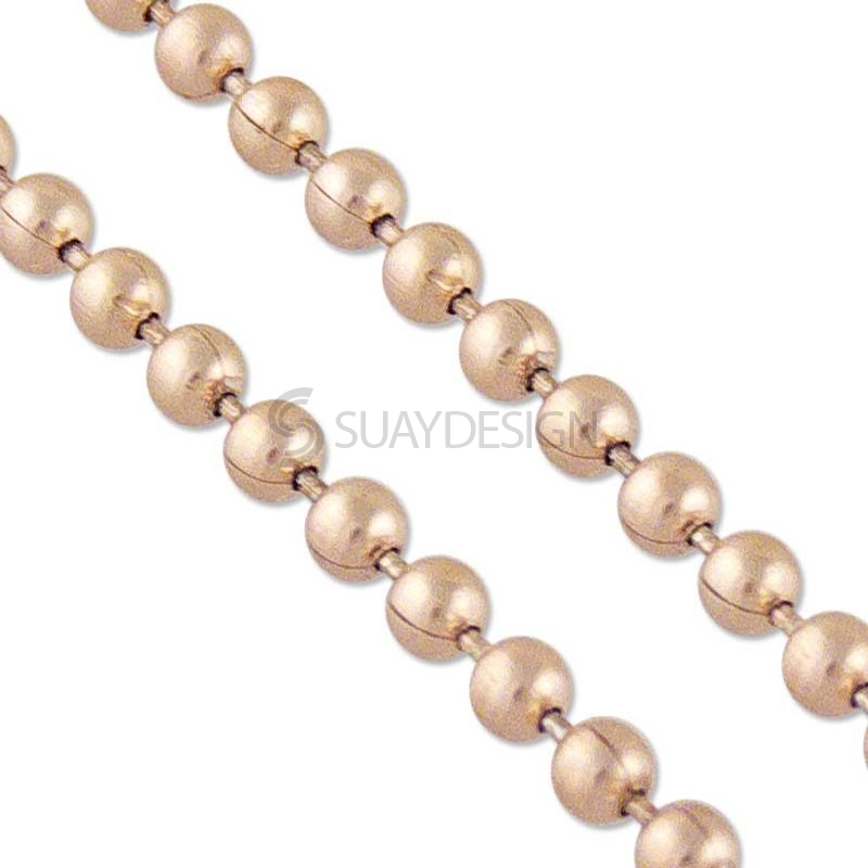 Beaded Rose Gold Stainless Steel Chain