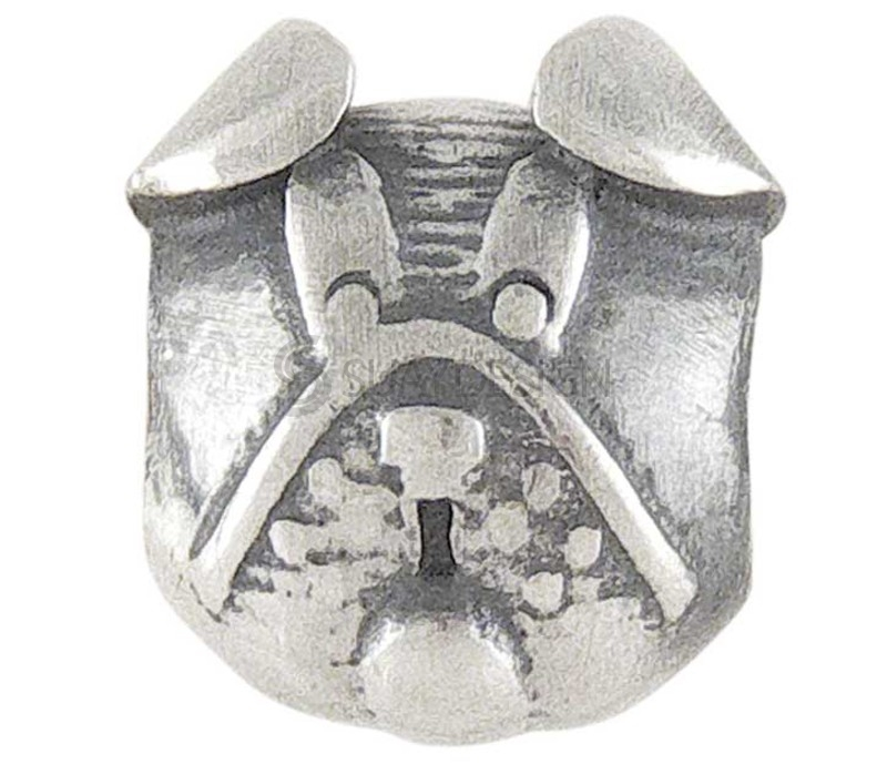 Women's Silver Charm Stopper Dog's Face