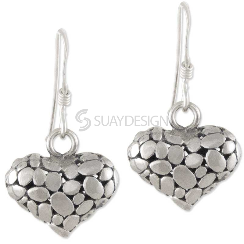 Women's Crush Silver Heart Earrings