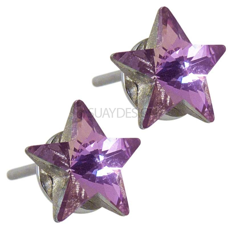 Women's Star Struck Rose Swarovski Earrings