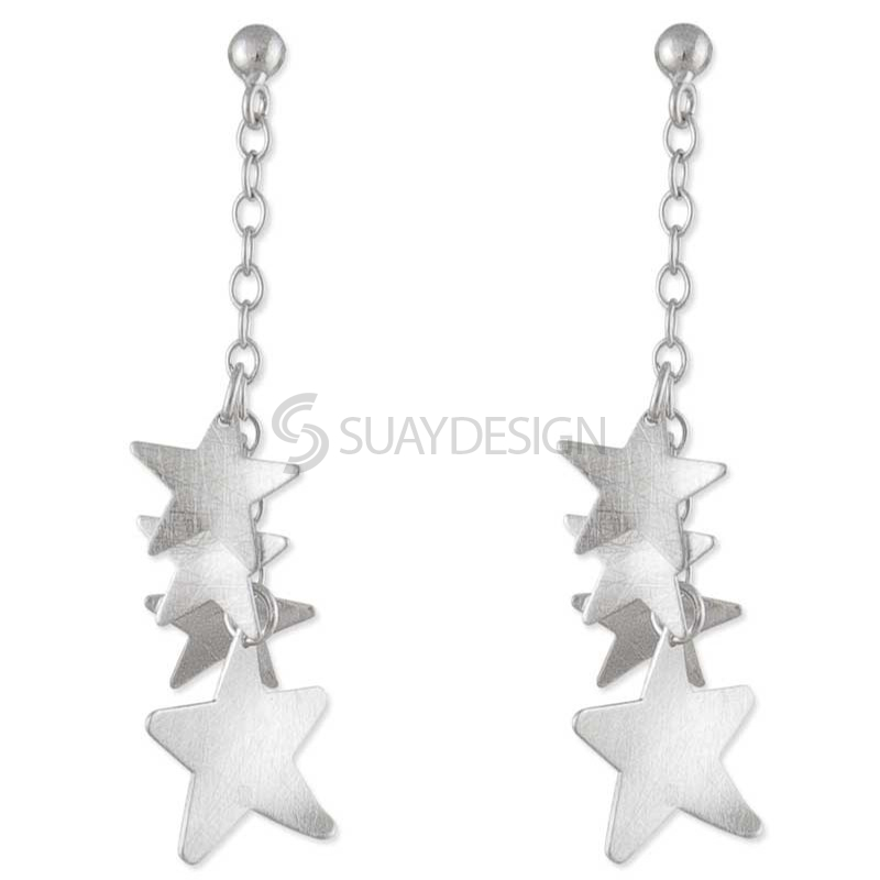 Women's Heavenly Silver Earrings
