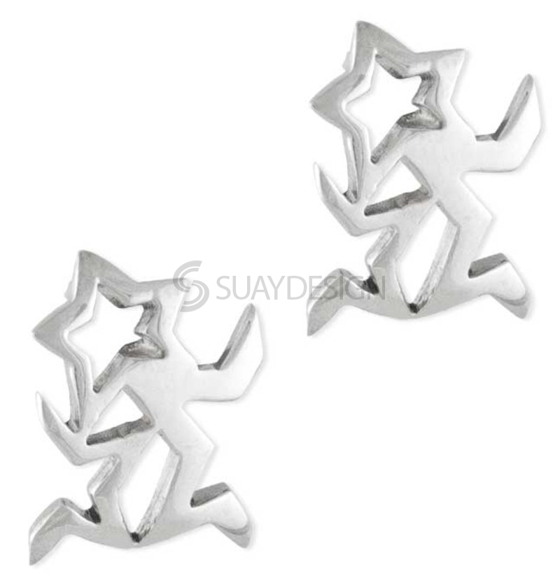 Women's Avior Silver Earrings