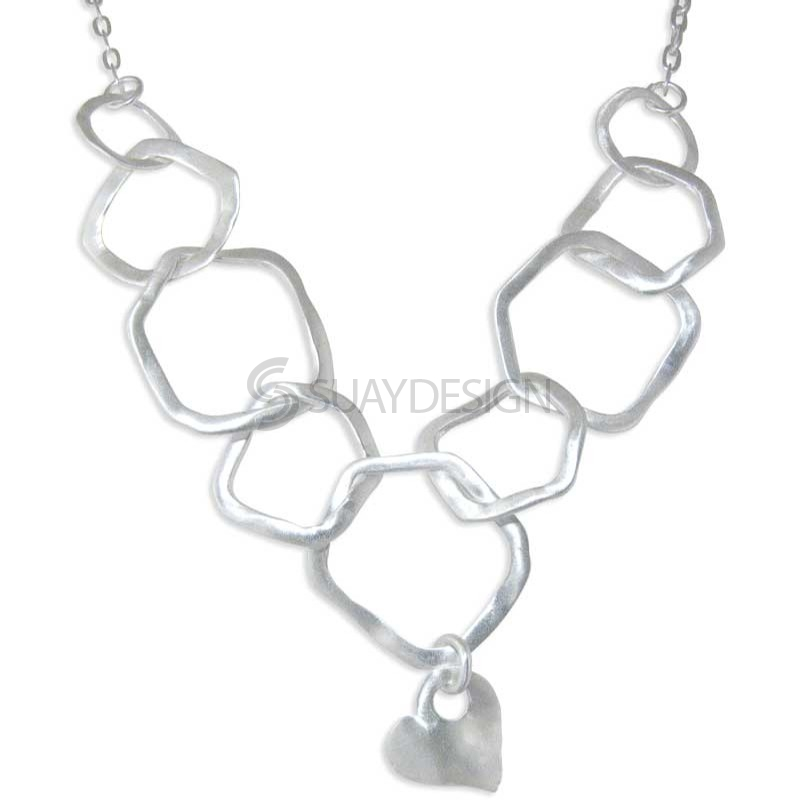 Women's Sweetheart Silver Necklace