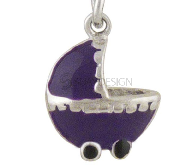 Women's Pram Silver Charm Purple