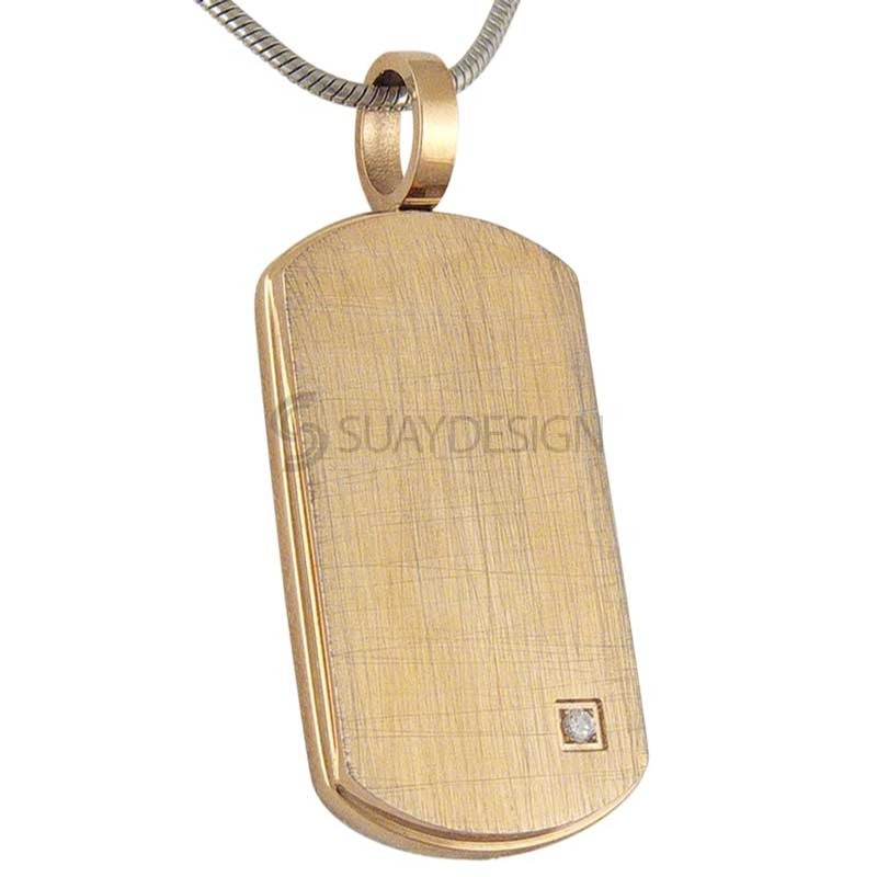 Women's Distressed Rose Dog Tag