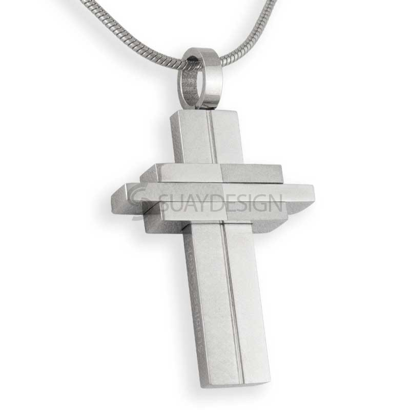Women's Steel Cross Chain Necklace