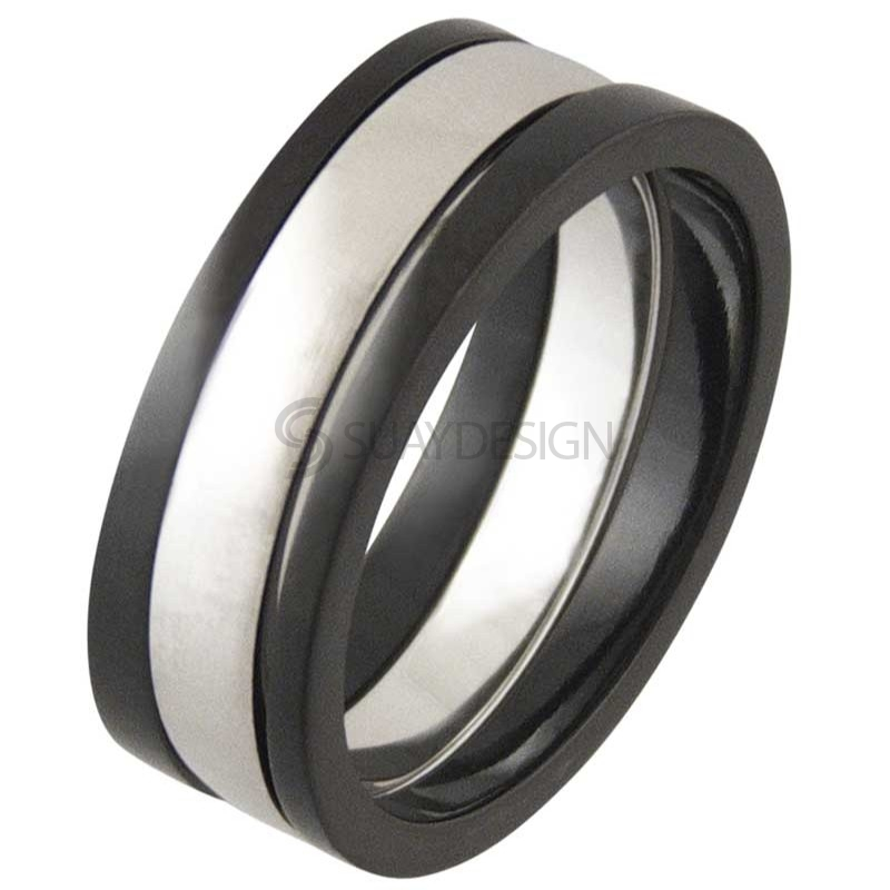 Women's Praise Black Titanium Ring