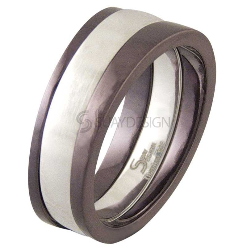 Women's Praise Coffee Titanium Ring