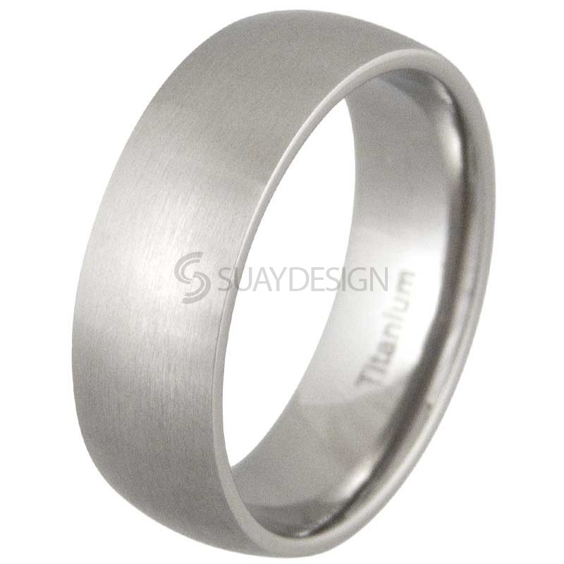 Women's Lust 8 Satin Titanium Ring