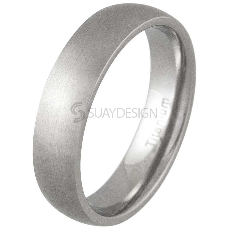Women's Lust 6 Satin Titanium Ring