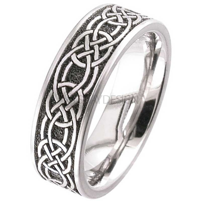 Women's Titanium Celtic Knot Ring 2226-CLK1