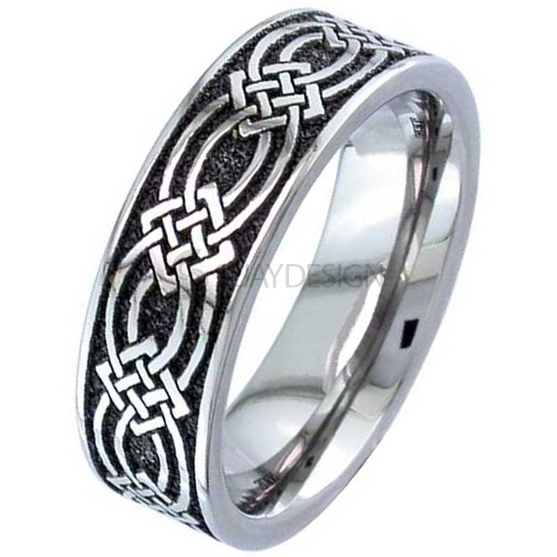 Women's Titanium Celtic Knot Ring 2226-CLK2