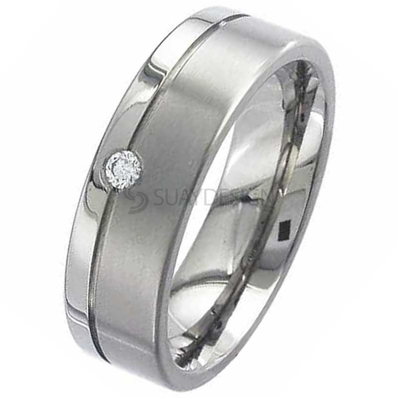 Women's Diamond Titanium Ring 2267DS-2.5MM