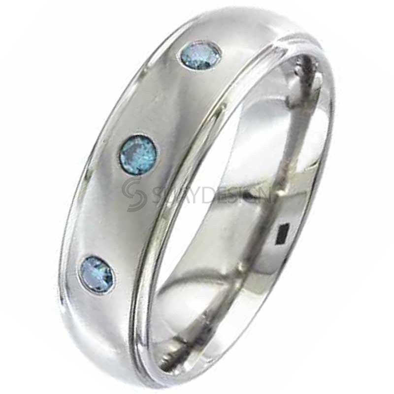 Diamond Titanium Ring 2205BDS-3X2.5MM(WIDE)