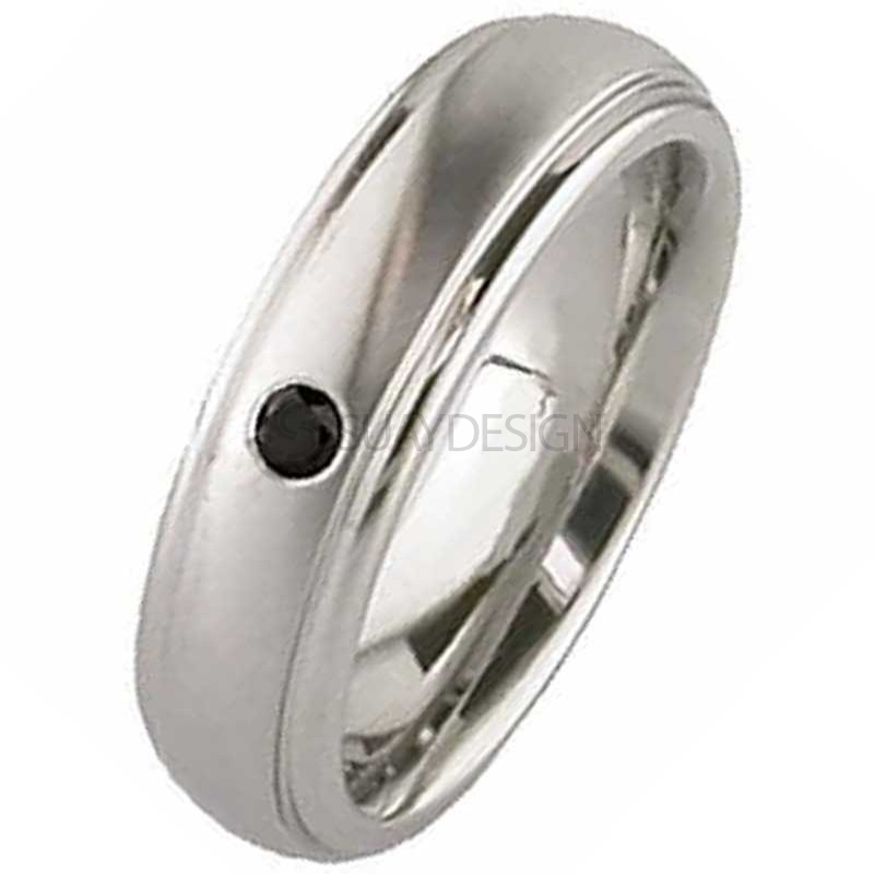 Women's Diamond Titanium Ring 2205DSBLACK-2.5MM