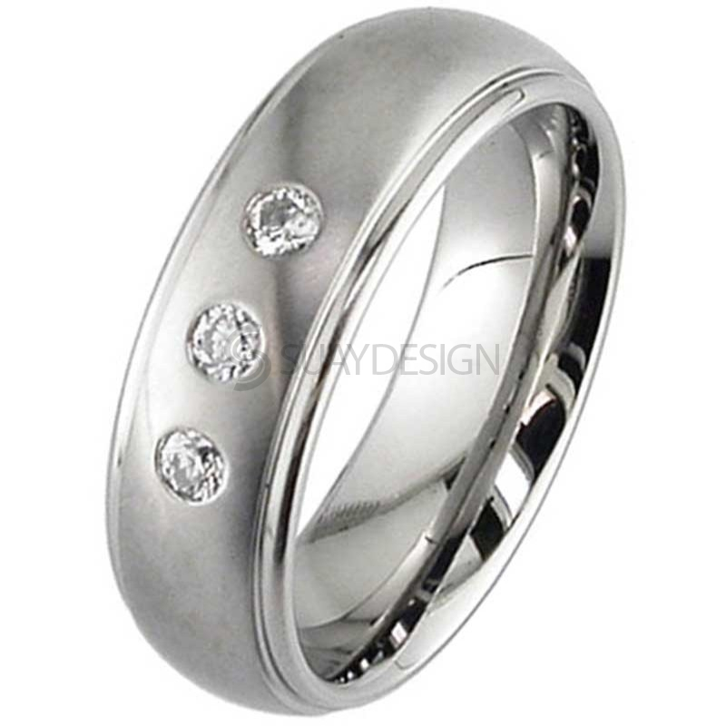 Women's Diamond Titanium Ring 2205DSX3-2.5MM(NAR)