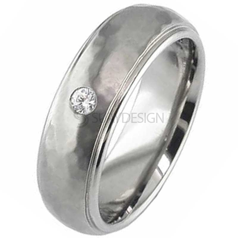 Women's Hammered Titanium Ring 2205HDS-2.5MM
