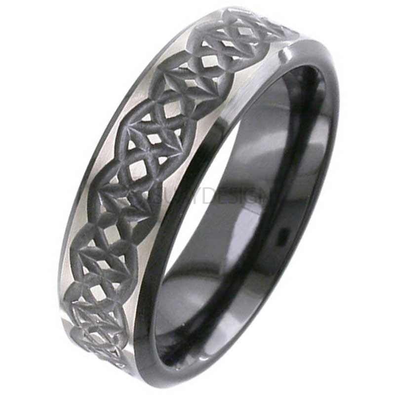 Zirconium Celtic Ring 48