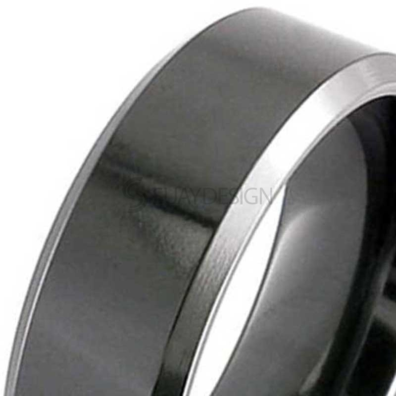 Alternative photo: Men's Zirconium Ring 4026CHB