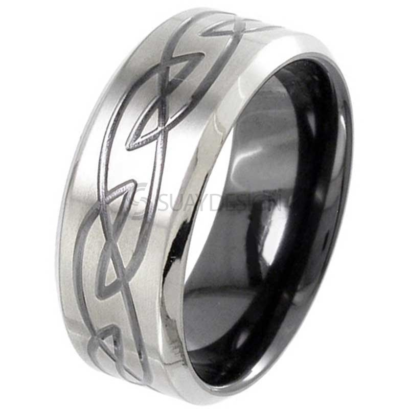 Zirconium Celtic Ring 4059CHRB